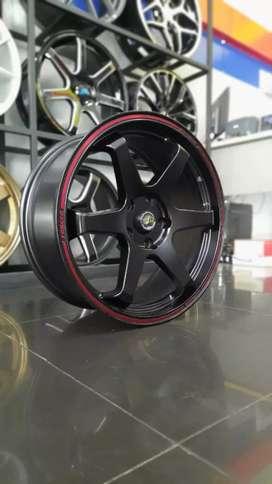 Velg te37 ring18x8.0 h5x114.3 et40 civic turbo fd crv hrv xtrail