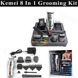 Kemei KM 680A   8 in 1 Rechargeable Mens Grooming Kit Shaver & Trimmer