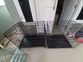 Kandang kucing dua ukuran besar dan satu ukuran kecil