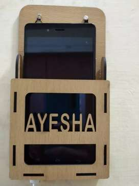 Mobile wall Holder customized name