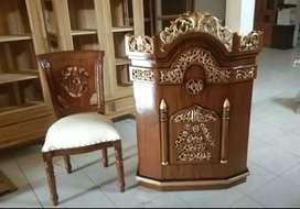 Kursi dan mimbar masjid jati jual