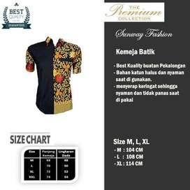 AM0071 Harga Promo COD Baju Kemeja Batik cowok Pria Kualitas terjamin