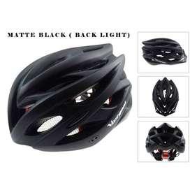 Helm Sepeda EPS PVC Shell dengan Lampu Warna Hitam Termurah (COD)