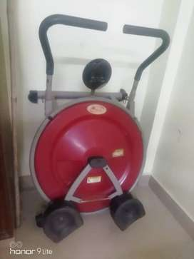 A.B circle excersize equipment with small breakage