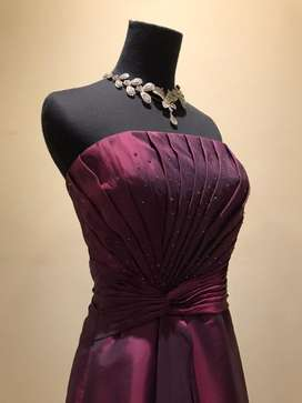 Maroon evening dress