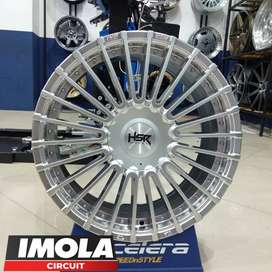Velg mobil racing murah ring 17 HSR wheel pcd 5x100 dan 5x114,3 Silver