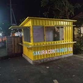 Box container, booth bazzar, booth jualan, booth usaha, booth makanan