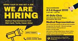 (Walk in Interviews) Medical Representatives Required