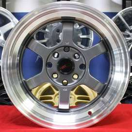 vleg racing TE37V  HSR Ring.15 Lebar.7-8 PCD.4X100-4X114,3 ET.40-
