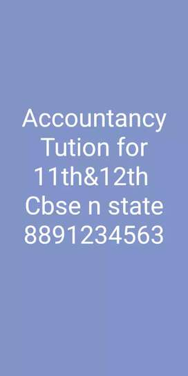 Tution for 11th &12th accountancy