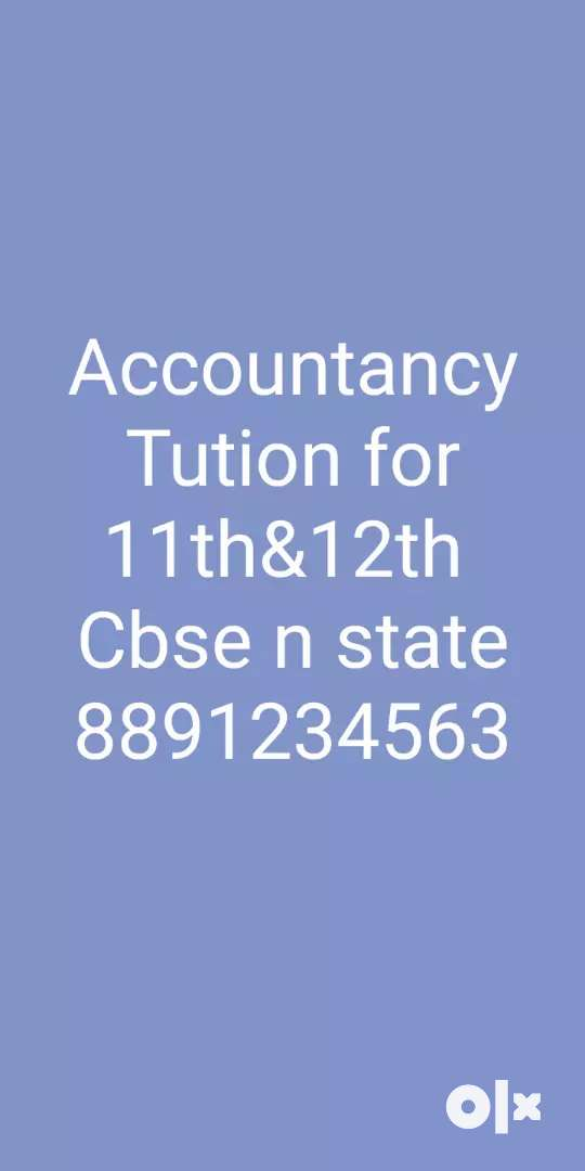 Tution for 11th &12th accountancy 0