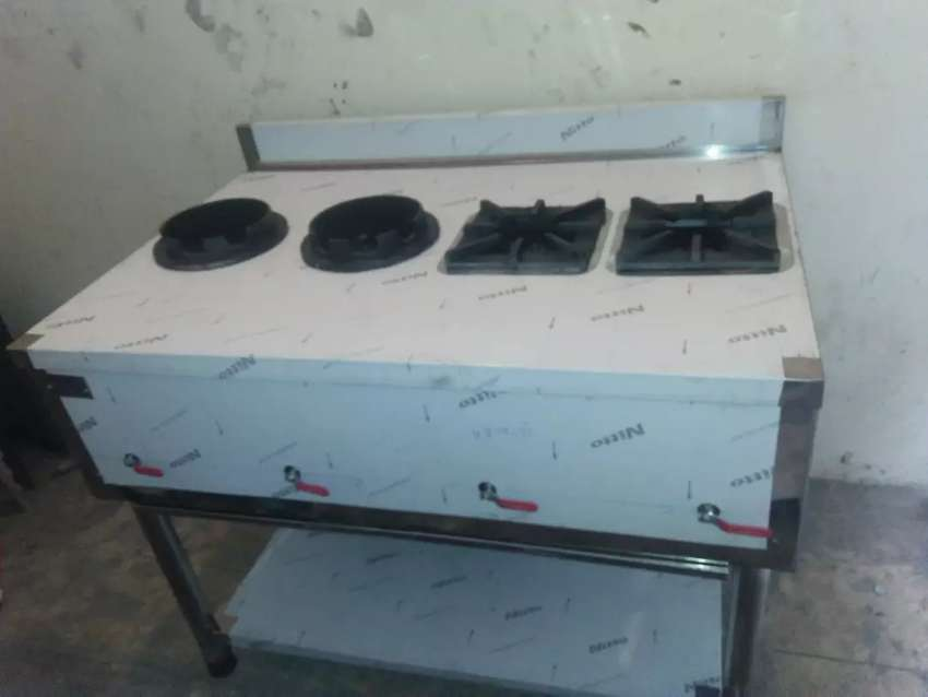 Stove 4 burners stainless steel 4*2.5 table size 0