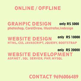 Learn Graphic Design / Website Design / Website Development