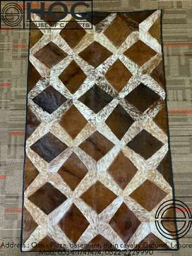 Home decor rugs, center pieces pure leather