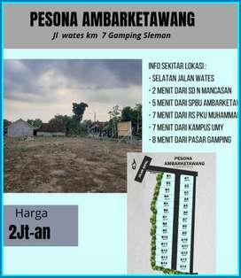 Tanah Kavling Gamping Sleman Jauh Makam dan Sungai Pasti SHM