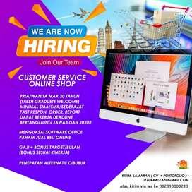 Customer services online shop