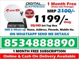 Airtel Digital Tv SD/HD Airteltv Tata Sky DTH All India Dishtv!