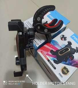 Aneka Holder Motor Sepeda Spion Stang Gojek