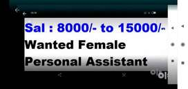 Wanted female personal assistant part-time or full-time  freshers with