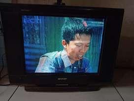 Tv tabung 21in merk sharp piclo slim