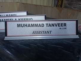 Table Name plates for office
