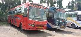 2 Ashok Leyland AC Sleepr Bus