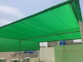 Fiber glass Shade Green Shade  Canvas Tarpuling  Pvc Febric Car parkng