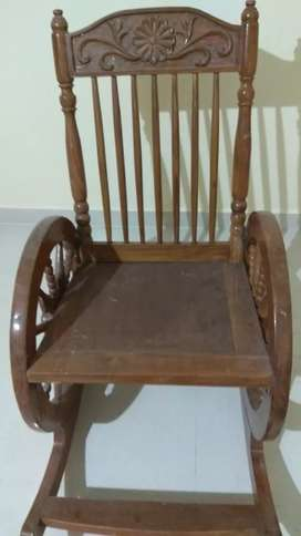 Super Rocking carved Wooden Chair
