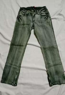 Celana jeans anak SCARLET pinggang karet Skinny leg Usia 10-12 tahun