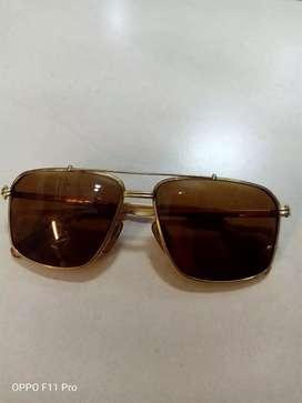 kacamata pria gerald genta original gold plate