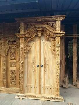 Menang kwalitas gebyok berbagai ukuran jendela pintu utama gapura