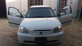 Honda civic exi white colour 2001 new shap for sale