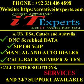 Dialer, VoIP,/SIP, Call Back, Toll Free for call center