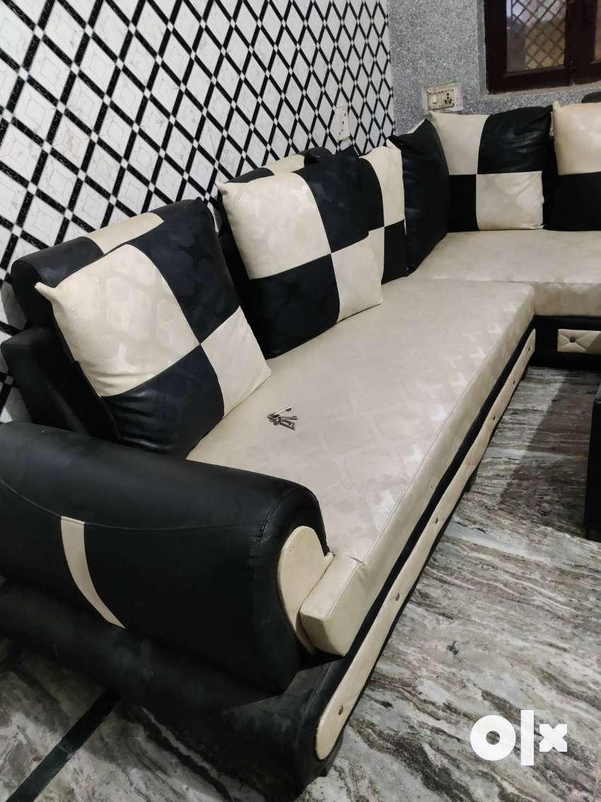 Sofa set with corner chair