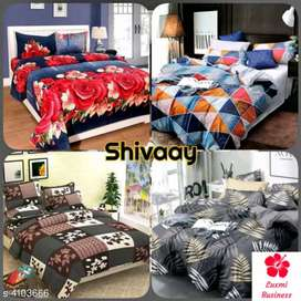 Fashionable poly-cotton double bedsheet