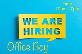 OFFICE Boy (10am to 7pm)