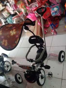 Sepeda PMB roda tiga tricycle nikel Chorome tipe 721 musik