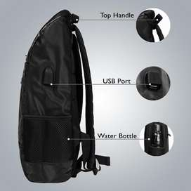 Luxury backpack with usb charging support