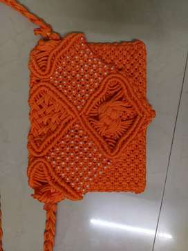 Handmade rope lamp and hand bag