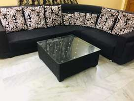 L shaped 7 seat sofa that can suit any home