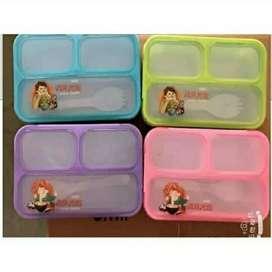 3 sekat kotak makan yooyee mini lunch box 3 sekat bekal sekolah