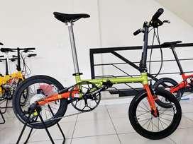 Sepeda lipat FNHON gust Green Arrow 100% New medium spec
