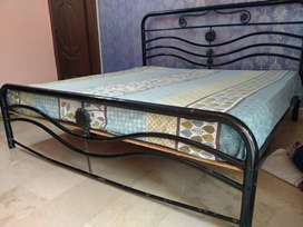 Buy rod iron bed and diamond supreme spring mattress vd free