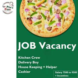Need Boys & Girls for Pizza Store in Agra - La pino