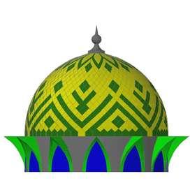 Kubah ornament masjid
