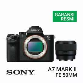 Sony A7 Mark II Kit FE 50mm Promo Free 1x Cicilan