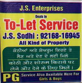 J.S.ENTERPRISES (TO LET SERVICES) PROVIDE IN ALL OVER PATIALA CITY