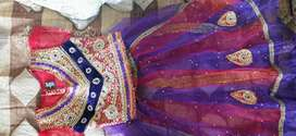 Lengha sari for 6to7 year size 28