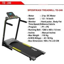 Alat Fitness Treadmill Elektrik 2 HP TD 240 Diadora MURAH