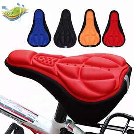 28x16cm 4 Colors Bicycle Saddle 3D Soft Cycling Seat Cover